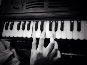 Learning the harmonium from an incredible teacher