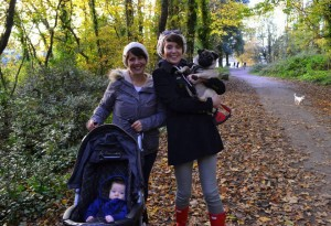 My sister and I with our babies. This picture is all about LOVE.